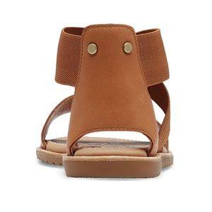 SOREL Ultim-Camel Brown Ella Leather Sandal